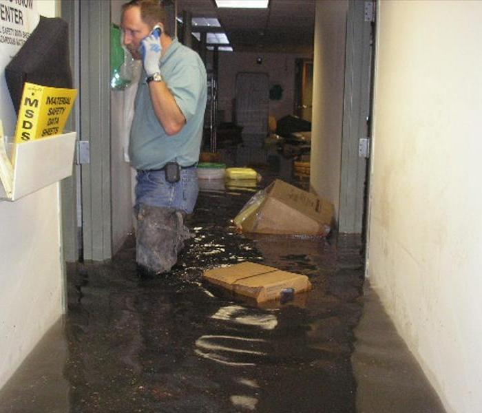 Flooded Commercial Space in Omaha, NE Before