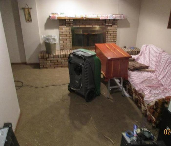 Basement after water extracted